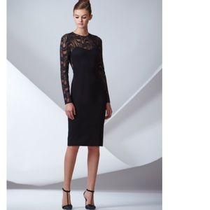 Elegant black lace dress.
